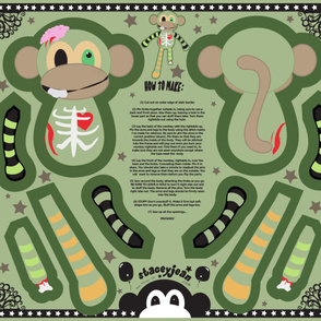 "YD - 30"" Ralph the Zombie Monkey Plush Cut & Sew Doll"