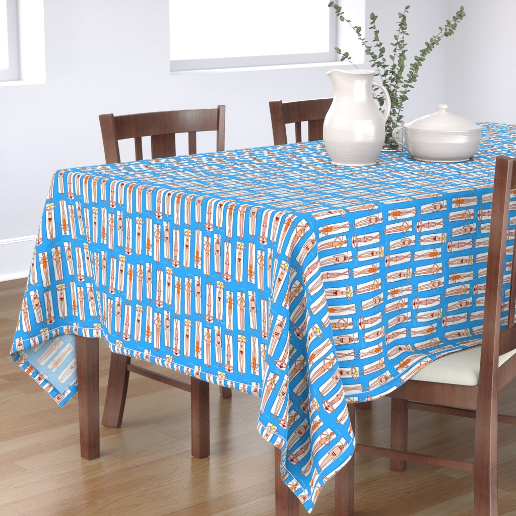 Bantam Rectangular Tablecloth featuring Floating by leanne