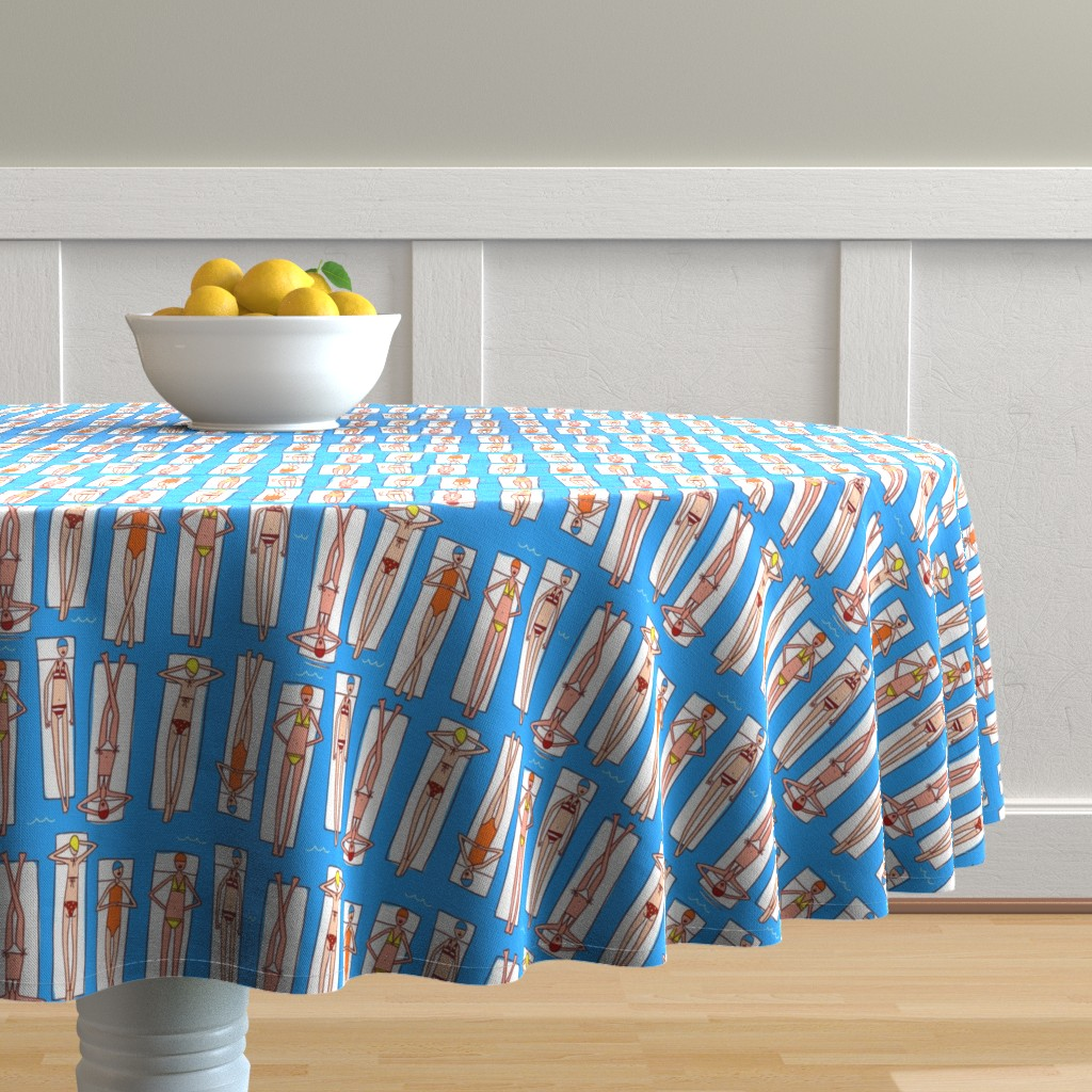 Malay Round Tablecloth featuring Floating by leanne