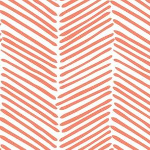 Freeform Arrows in true coral