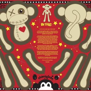 """FQ - 12"""" VooDoo Monkey Plush Cut & Sew Doll"""