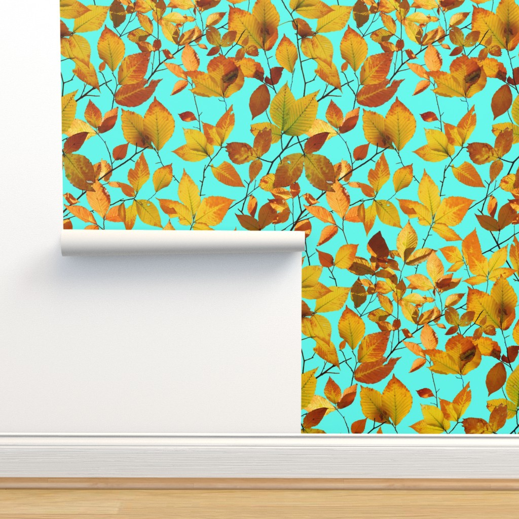 Isobar Durable Wallpaper featuring Maine Autumn Leaves by patriciasheadesigns