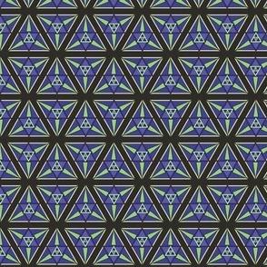 geometric blues-chartreuse