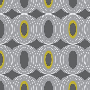 Chillout - Retro Geometric Midcentury Modern Grey