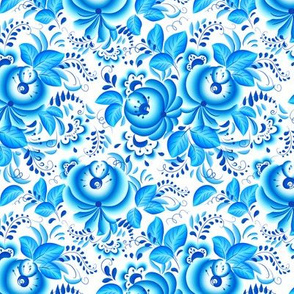 Russian style floral pattern