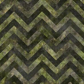 Splotchy chevrons green and gray