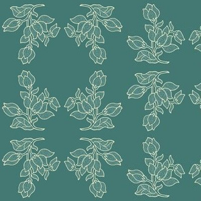 sm-batik-style flowers minagreen - complex