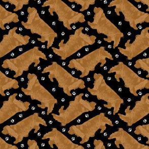 Trotting Sussex Spaniels - black