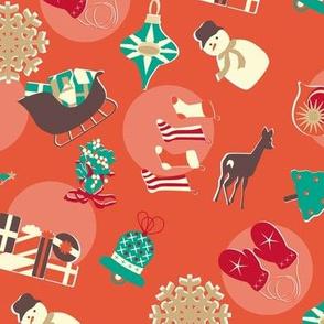 north christmas small print