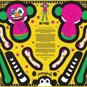 Clown Monkey Cut & Sew Doll (FQ)
