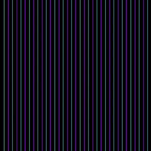 Purple and Turquoise Pinstripe- Dark