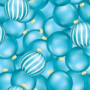 Bright Blue Ornaments