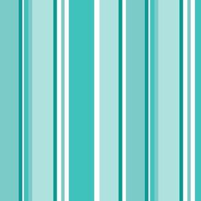 Stripes in aqua