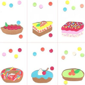 colorfull cakes labels (paper collage)
