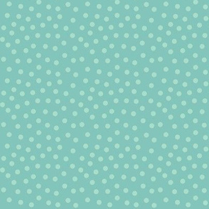 mitten dots blustery teal