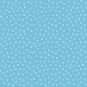 mitten dots sky blue