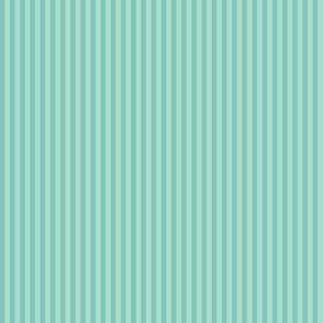 skinny mitten stripes - blustery teal
