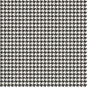 Black and Cream Houndstooth