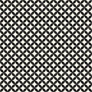 Black and Cream Circles