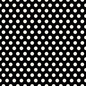 Cream Polkadots on Black