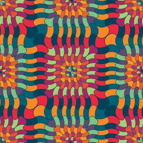 Colorful checkered ornament