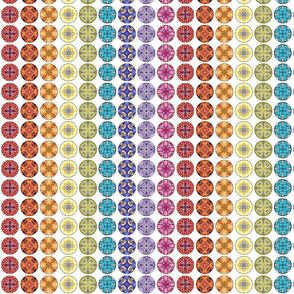 Rainbow Disks - White