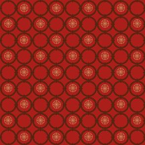Red Bargello Window