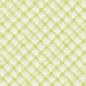 Chartreuse Rippled Crisscrosses