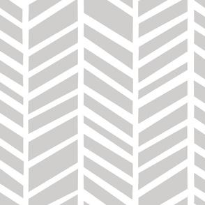 Herringbone Medium Light Grey by Friztin