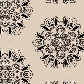 Snowflakes in Black and Tan