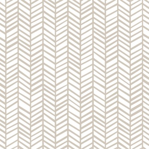 Herringbone M+M Latte by Friztin - Macro