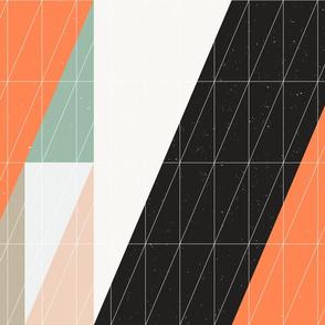 Triangles in Orange by Friztin