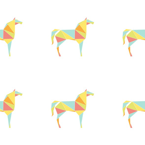 Origami Horses by Friztin - Medium
