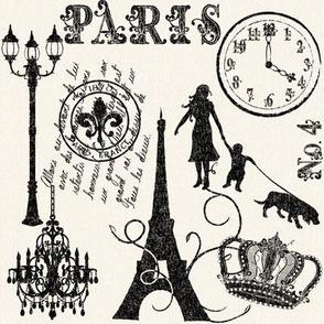 Silhouettes of Paris