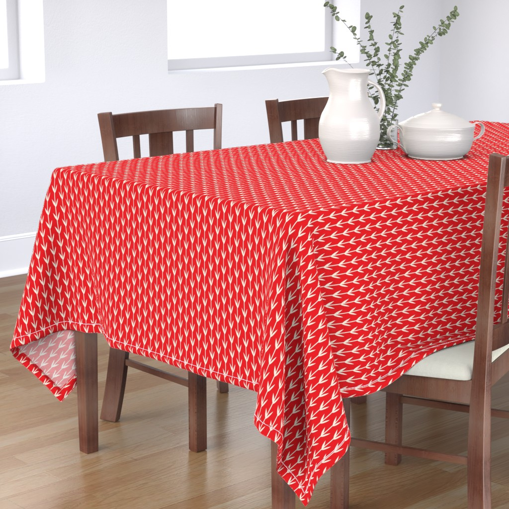 Bantam Rectangular Tablecloth featuring winter_sprouts by holli_zollinger