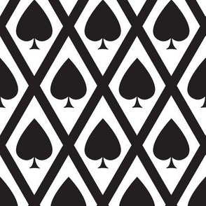 Umbria's Spades in Black and White