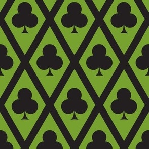 Clover's Clubs in Black and Green