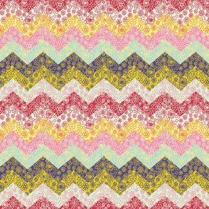 cheater chevron quilt smaller scale