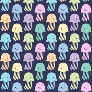 Cute colorful jellyfishes