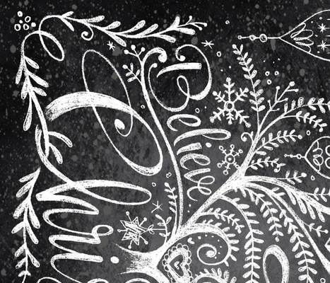 Christmas Tree in Chalk