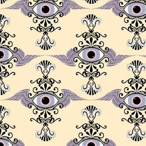 Winged Eye Damask, light