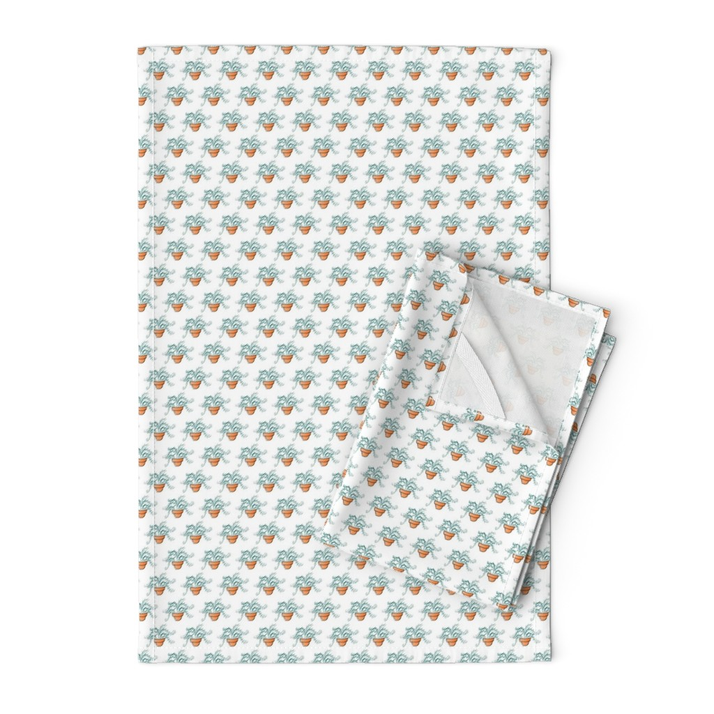 Orpington Tea Towels featuring Little Fern - Tiny by designergal