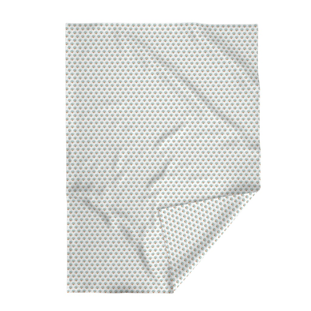 Lakenvelder Throw Blanket featuring Little Fern - Tiny by designergal