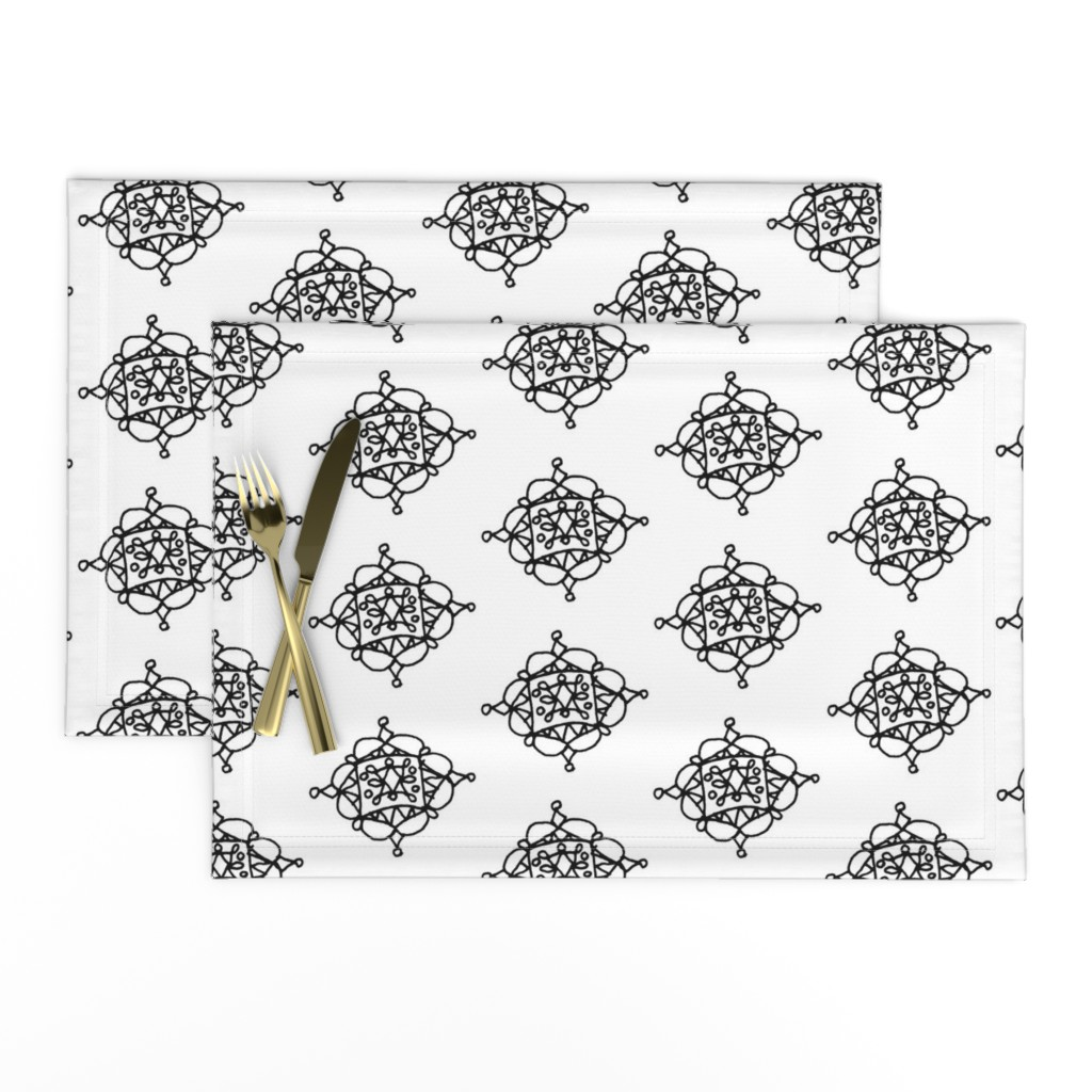 Lamona Cloth Placemats featuring Mystic Shape by designergal
