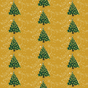 Christmas Tree on Mustard REPEAT