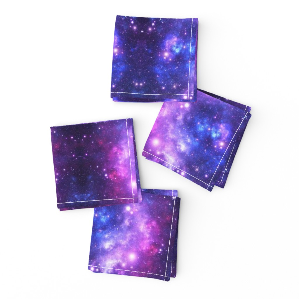 Frizzle Cocktail Napkins featuring Purple Space Stars (small print) by inspirationz