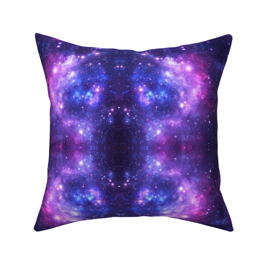 Catalan Throw Pillow featuring Purple Space Stars by inspirationz