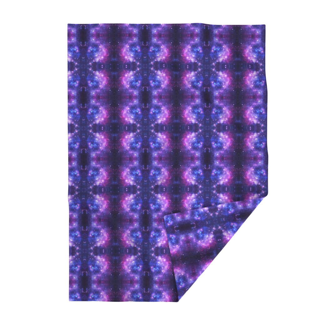 Lakenvelder Throw Blanket featuring Purple Space Stars by inspirationz