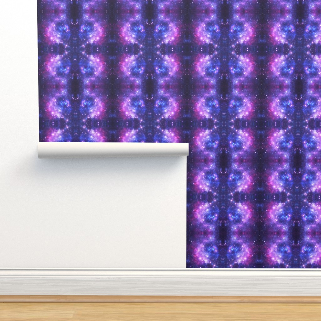 Isobar Durable Wallpaper featuring Purple Space Stars (small print) by inspirationz
