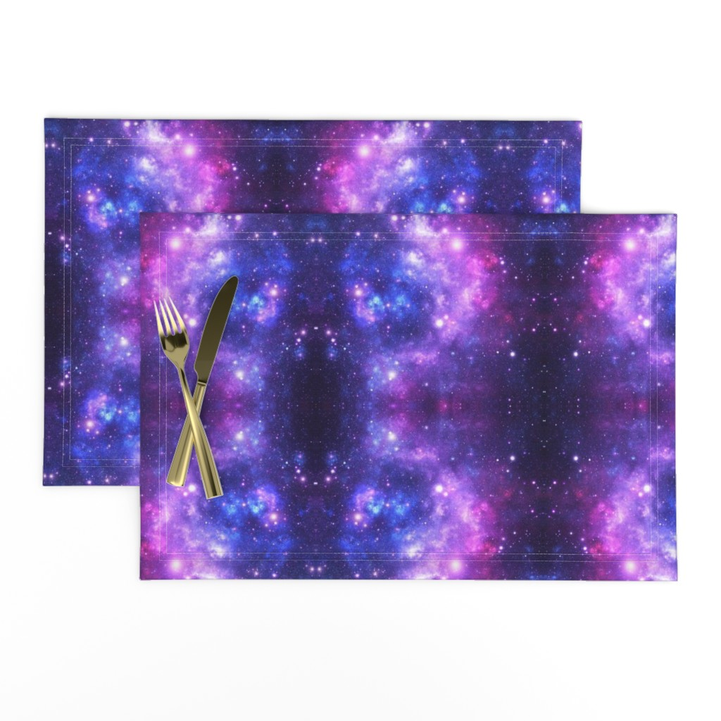 Lamona Cloth Placemats featuring Purple Space Stars by inspirationz